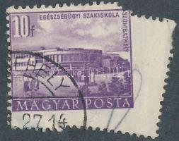 1953 Épületek (II.) 10f látványos elfogazással