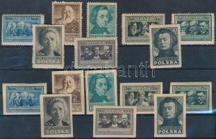 1947 Lengyel kultúra fogazott és vágott sor Mi 455-462