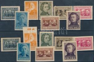 1947 Lengyel kultúra fogazott és vágott sor Mi 463-470