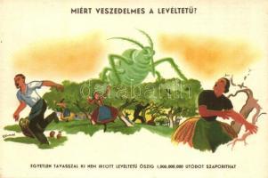 Magyar mezőgazdasági propaganda, levéltetűirtás, Klösz s: Szűcs Szabó / Hungarian agricultural propaganda, aphid control, Klösz s: Szűcs Szabó