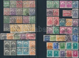 1900-2014 Kb. 115 db bélyeg katalógusrendben, közte párok, tömbök + 10 db külföldi bélyeg, 4 stecklapon