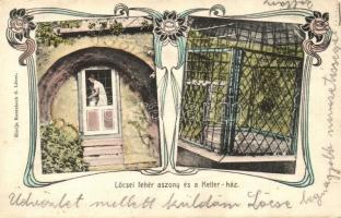 Lőcse, Levoca; a Lőcsei fehér asszony, Ketter-ház / the White Lady of Lőcse, Ketter house, Art Nouveau (Rb)