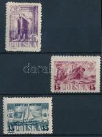 1948 Óceánok világnapja sor Mi 490-492