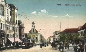 Pécs, Irgalmasok utcája, villamos (EK)