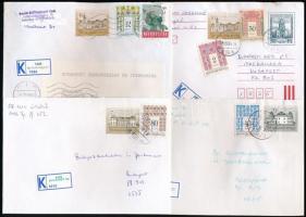 45 db levél K ragjeggyel az 1990-es évekből