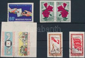 1959-1961 6 klf vágott bélyeg (15.500)