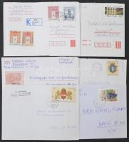100 db üzleti levél, közte ajánlottak, gépi bélyegzések, stb. az 1990-es évekből