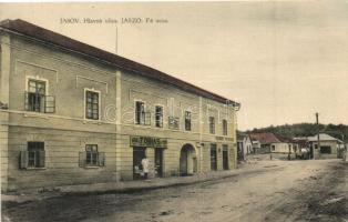 Jászó, Jasov; Fő utca, vendéglő, J. Tobias üzlete / main street, restaurant, shop