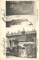 Budapest II. Gül Baba sírja, mauzóleum, belső, arab felirattal (EK)