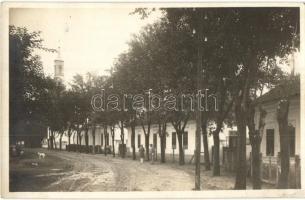 1929 Kissáró, Male Sarovce; Református templom, lelkészlak, tanítói lakások és iskolák / church, parish, teachers homes and schools, photo (EK)