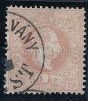 1867 50kr (PÉNZ UTAL)VÁNY (PE)ST (150.000) (kis papírelvékonyodás / thin paper)