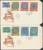 1964 Halasi csipke (II.) vágott sor 2 FDC-n (6.000)