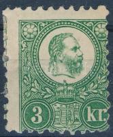 1871 Réznyomat 3kr eredeti gumival (25.000)