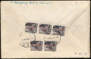 1946 Levél Betűs 5 x Távolsági/18f bérmentesítéssel BUDAPEST - Somsálybánya