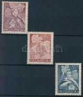 1949 Híres emberek sor Mi 536-538