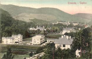 Trencsénteplic, Trencianske Teplice; Látkép, kiadja Hermann Seibt / general view (EK)