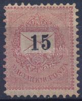1889 15kr 11 1/2 fogazással (3.500)