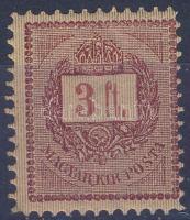 1888 3Ft S 11 1/2 fogazással (5.000) (alig látható falcnyom)