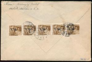 1946 Levél Betűs 5 x TI. I./10f bérmentesítéssel MISKOLC - Somsálybánya