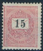 1898 15kr 12 : 11 3/4 fogazással (3.600)