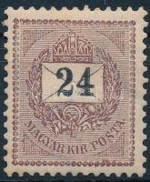 1898 24kr 12 : 11 3/4 fogazással (4.000) (törés / folded)