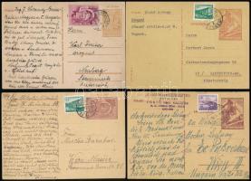 4 db díjjegyes levelezőlap az 1950-es évekből