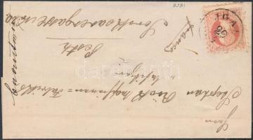 1868 5kr levélen JGAL - PESTH