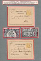 Az 1871-es levelezőlapok típusai 3 db kiállítási lapon feldolgozva