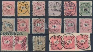 1888-1899 18 db Krajcáros bélyeg szép bélyegzésekkel