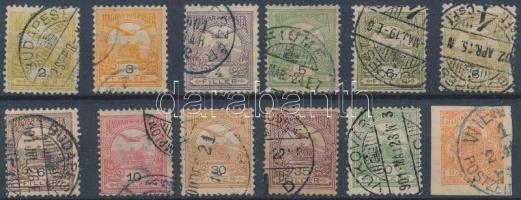 1900 12 db Turul bélyeg rombusz vízjellel