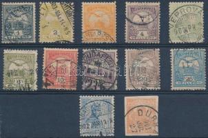 1900 12 db Turul bélyeg VI vízjellel