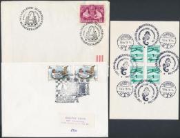 1983-1990 3 levél különböző Sakk emlékbélyegzéssel