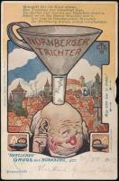 Nürnberg Nürnberger Trichter Verlag von Hermann Martin / humour, mechanical card