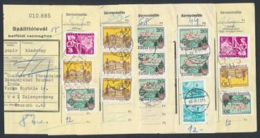 1985 50 db szállítólevél forgalmi és képes bélyegekkel