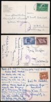 1946-1949 3 db képeslap klf tarifával, osztrák cenzúrával