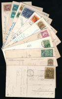 1928-1944 11 db képeslap klf bérmentesítésekkel (Érdekes összeállítás)