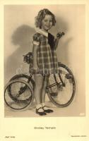 Shirley Temple with bicycle. Ross Verlag (gluemark)