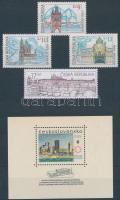 Csehszlovákia 1967 1 db blokk + Cseh Köztársaság 4 klf bélyeg