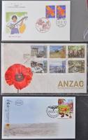 100 db klf külföldi boríték, levlap,stb., emlékbélyegzésekkel (tematikus kincsesbánya) cipős dobozban