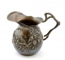 Ezüst (Ag.) mini kancsó, jelzett, apró horpadással, nettó:14 g, m:5,5 cm