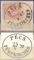 1867 5kr PÉCS / FÜNFKIRCHEN (Gudlin 100p) luxus