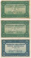 ~1920. Vásárlási visszatérítés 100K + 500K (2x) kitöltetlen szelvények T:II-,III kis szakadás, tűnyom