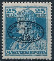 Debrecen I. 1919 Károly 25f fekete felülnyomással, garancia nélkül (20.000)