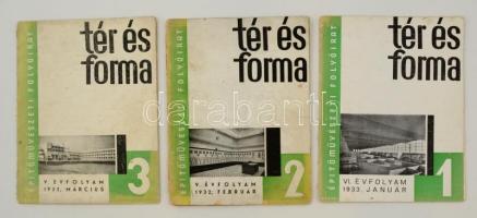 1932-1933 A Tér és Forma V. és VI. évfolyamának 1., 2. és 3. száma