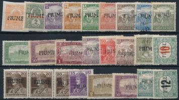 Fiume 1919 25 db megszállási bélyeg, garancia nélkül