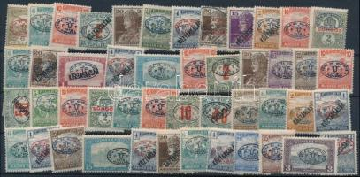 Debrecen 1919 47 db megszállási bélyeg, garancia nélkül