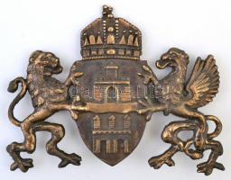 Budapest címere, réz, jó állapotban, 20x16 cm