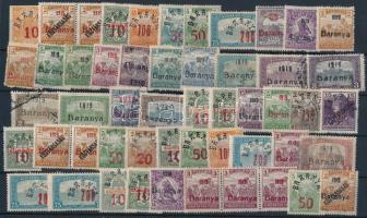 Baranya 1919 52 db megszállási bélyeg, garancia nélkül