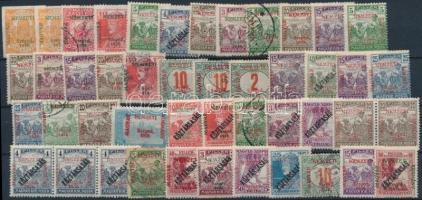 Szeged 1919 46 db megszállási bélyeg, garancia nélkül