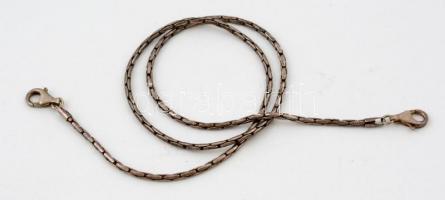 Ezüst(Ag) óralánc, jelzett, h: 46 cm, nettó: 17,2 g